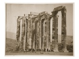Tourists Sitting Amongst Ruins  Greece  1880S (Sepia Photo)
