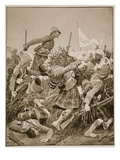 The Seaforth Highlanders Storming the Zareba at the Battle of Atbara