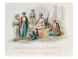 Jezzar Pacha (C1720-1804) Condemning a Criminal (Colour Engraving)