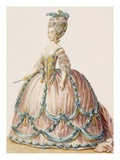 Lady's Gown for the Royal Court  Engraved by Deny  from 'Galeries Des Modes Et Costumes Francais'