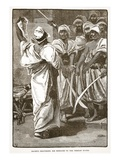 Bagaeus Delivering His Messages to the Persian Guard (Litho)
