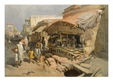 Native Shop in a Calcutta Bazaar  from 'India Ancient and Modern'  1867 (Colour Litho)