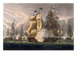 The Battle of Cape St Vincent  February 14th 1797  Engraved by J Baily