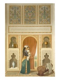 Cairo: Interior of the Domestic House of Sidi Youssef Adami: a Woman Standing in a Room
