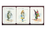 Three 'Happy Family' Cards Depicting Characters from 'Alice in Wonderland' by Lewis Carroll