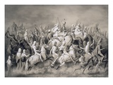 Chir Singh  Maharajah of the Sikhs and King of the Punjab with His Retinue Hunting Near Lahore