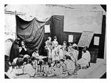 Girls' School in Algiers  C1860 (B/W Photo)