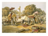 Pheel Khana  or Elephants Quarters  Holcars Camp  from 'India Ancient and Modern'  1867