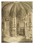 The Cabinet  Engraved by T Morris  from 'Description of Strawberry Hill' by Horace Walton  1784