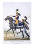 Uniform of the Elite Gendarme of the Royal Guard  1823 (Colour Litho)