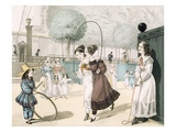 The Skipping Game  Plate 115 from 'Le Bon Genre'  1822 (Coloured Engraving)