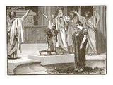 Alexander at the Temple of Jupiter Ammon (Litho)