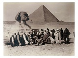 Tourists at the Sphinx (Sepia Photo)