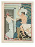 Choleric Rage  Illustration from 'The Works of Hippocrates'  1934 (Colour Litho)