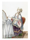 Elegant Lady at Her Dressing Table  Plate from 'Galerie Des Modes Et Costumes Francais'