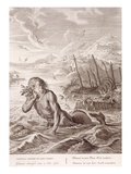 Glaucus Turned into a Sea-God  1731 (Engraving)