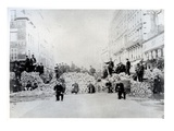Barricade on Rue De Charonne During the Paris Commune  18th March 1871 (B/W Photo)