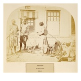Weavers  Hindoos  Delhi  from 'The People of India'  by J Forbes Watson  Published 1868