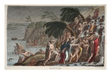 The Flood  Book I  Illustration from Ovid's Metamorphoses  Florence  1832 (Hand-Coloured Engraving)