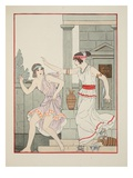 Struck with the Flat of the Hand  Illustration from 'The Works of Hippocrates'  1934 (Colour Litho)