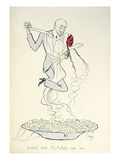 Gabriele D&#39;Annunzio (1863-1938) Dancing with a Woman Above a Plate of Maccheroni (Colour Litho)
