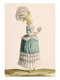 Caraco a La Polanaise  Engraved by Dupin  from 'Galeries Des Modes Et Costumes Francais'  C1778-87