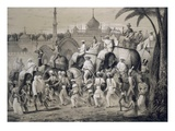 Lucknow  the Principal Street  from 'Voyages in India'  1859 (Litho)