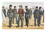 French Navy Uniforms  Late 19th Century (Colour Litho)