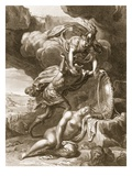 Perseus Cuts Off Medusa's Head  1731 (Engraving)