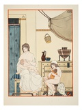 Nursing of Infants  Illustration from 'The Works of Hippocrates'  1934 (Colour Litho)