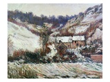 Snow Near Falaise  Normandy  C1885-86 (Oil on Canvas)