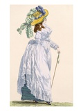 Sky Blue Promenade Dress with Green Underskirt  Engraved by Le Beau  Plate No252