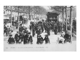 Postcard Depicting the Metropolitan Station Exit  Porte Maillot  Paris  Designed by Hector Guimard