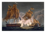 Capture of La Tribune  June 8th 1796  Engraved by Thomas Sutherland