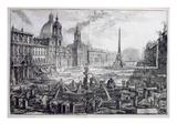 The Piazza Navona  from 'Le Antichita Romane De GB Piranesi (1756)'  Published Paris 1835