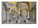 Interior of San Marco Basilica  Looking Towards the Dome  from 'Views of Venice'