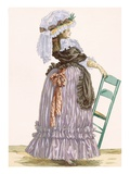 Lady Leaning on Chair  Engraved by Dupin  Plate No201