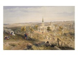 Quarantine Cemetery and Church  Plate from &#39;The Seat of War in the East&#39;