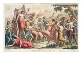 Bacchus' Rites or Triumph  Book III  Illustration from Ovid's Metamorphoses  Florence  1832