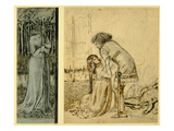 Study for the Painted Panels on the St George Cabinet  Designed by Philip Webb (1831-1915)  1861