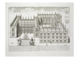 Bodleian Library  Oxford  from 'Oxonia Illustrata'  Published 1675 (Engraving)