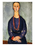 The Red Necklace  1918 (Oil on Canvas)