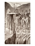 Deirdre's Lament  Illustration from 'Celtic Myth and Legend' by Charles Squire  1905 (Litho)