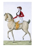 Lady Riding Sidesaddle  from 'Costumes Parisien'  Published in 'Journal Des Dames Et Des Modes'