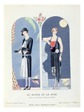 Day and Night  Plate 47 from &#39;La Gazette Du Bon Ton&#39; Depicting Day and Evening Dresses  1924-25