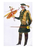 Costume for the Englishman  from La Boutique Fantastique  1917 (Colour Litho)
