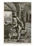 James Watt Experimenting (Litho)