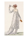 Ladies Evening Dress  Fashion Plate from Ackermann's Repository of Arts  Pub 1814
