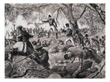 The Battle of Chateauguay  26th October 1813  1880 (Engraving)