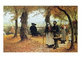 Bringing the Ex-Voto to the Church  1875 (Oil on Panel)
